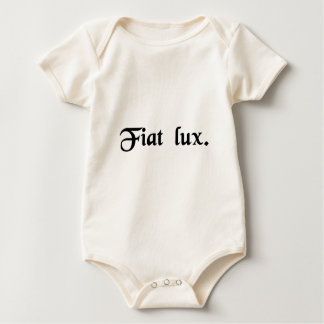 Let there be light. baby bodysuit