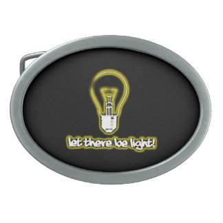 Let There Be Light Oval Belt Buckle
