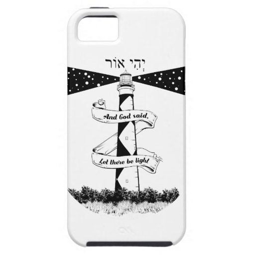 Let there be light, Bible quote iPhone SE/5/5s Case