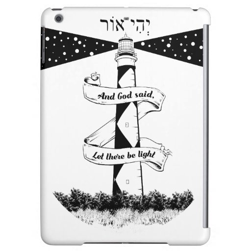 LET THERE BE LIGHT black and white Case For iPad Air