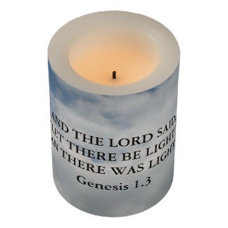 Let There Be Light Flameless Candle