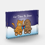 Let There Be Peace Customizable Acrylic Award