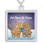 Let There Be Peace Holiday Necklace