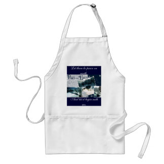 Let there be peace on earth adult apron