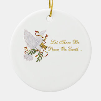 let there be peace on earth Double-Sided ceramic round christmas ornament