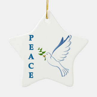 Let there be peace on earth this Christmas season! Ceramic Ornament