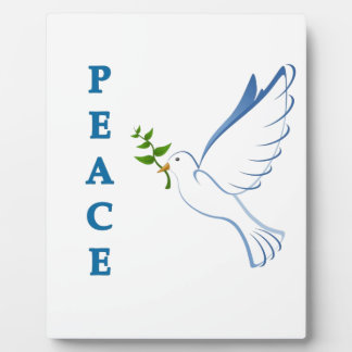 Let there be peace on earth this Christmas season! Plaque