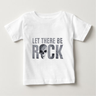 let there BE rock skull grey Baby T-Shirt