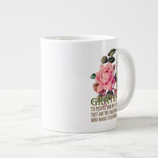 Let Us Be Grateful-Rose Pink - Jumbo Mug