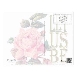 Let Us Be Grateful-Rose Pink - Postcard