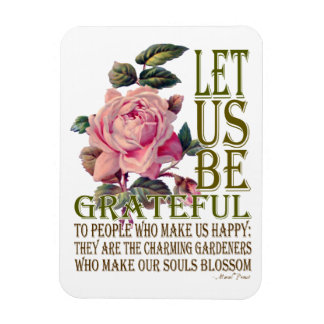 Let Us Be Grateful-Rose Pink - Rectangle Magnet