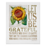 Let Us Be Grateful-Sunflower Aged - Poster 2