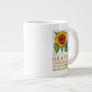 Let Us Be Grateful-Sunflower - Jumbo Mug