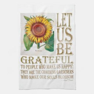 Let Us Be Grateful-Sunflower - Kitchen Towel