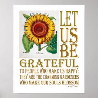 Let Us Be Grateful-Sunflower - Poster 3