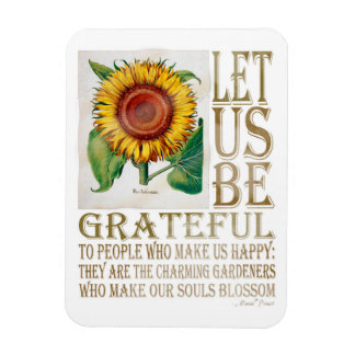 Let Us Be Grateful-Sunflower - Rectangle Magnet