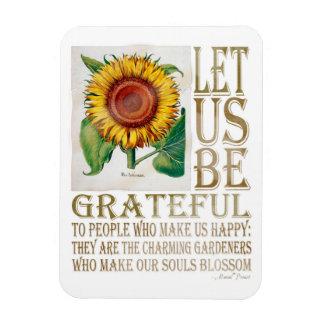 Let Us Be Grateful-Sunflower - Rectangle Magnet
