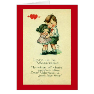 Let Us Be Valentines Greeting Card