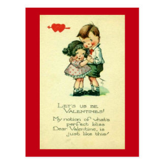 Let Us Be Valentines Postcard