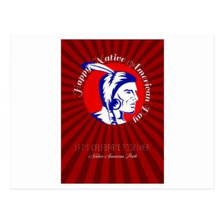 Let Us celebrate together Native American Pride Po Postcard