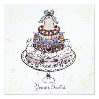 Let Us Eat Cake ! ~  Invitations