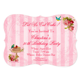 Let Us Eat Cake Party Invitations