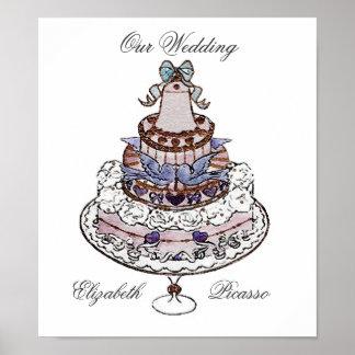 Let Us Eat Cake ! ~ Poster /Print Wedding Memories
