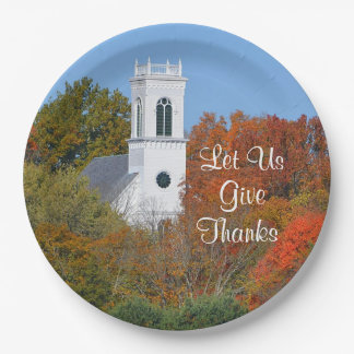 """Let Us Give Thanks"" Paper Plate"