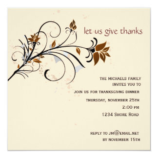 Let Us Give Thanks Thanksgiving  Invitation