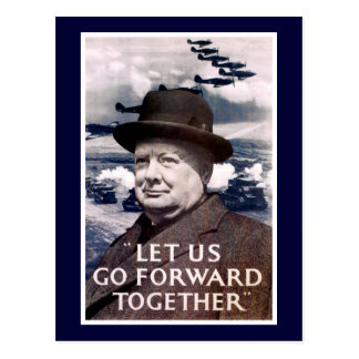 Let Us Go Forward Together Postcard