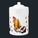 """""""Let Us Pray"""" Teapot<br><div class=""""desc"""">Lovely designed inspirational teapot will be the talk of the town with your guest. This teapot has a printed image of an acrylic painting of praying hands with trees and beautiful sunlight.</div>"""