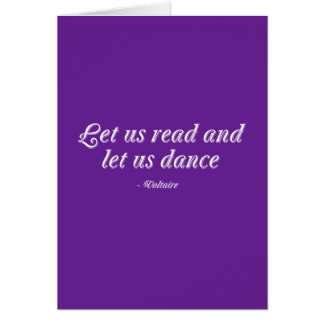 Let Us Read And Let Us Dance Card