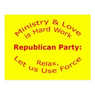 Let us Use Force Postcard