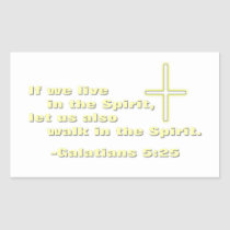 Let Us Walk in the Spirit Rectangular Sticker
