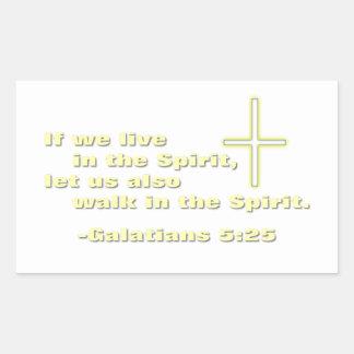 Let Us Walk in the Spirit Rectangular Sticker