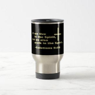 Let Us Walk in the Spirit Travel Mug