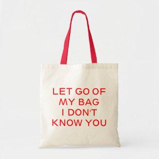 Let va de mí bolsa tela barata