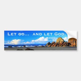 Let va dejar a dios pegatina de parachoque