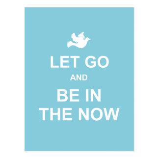 Let va y sea en el now - cita espiritual - azul tarjeta postal