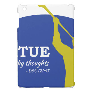 """""""Let Virtue Garnish Thy Thoughts"""" Angel Moroni Cover For The iPad Mini"""