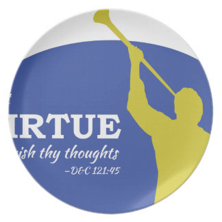 """""""Let Virtue Garnish Thy Thoughts"""" Angel Moroni Plate"""
