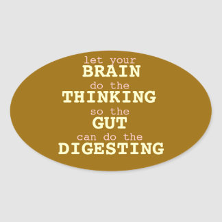 Let your brain think Sticker