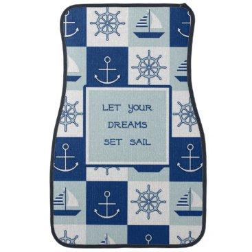 Beach Themed Let Your Dreams Set Sail Car Mat