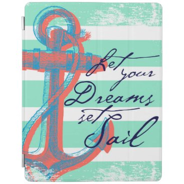 Beach Themed Let Your Dreams Set Sail iPad Smart Cover