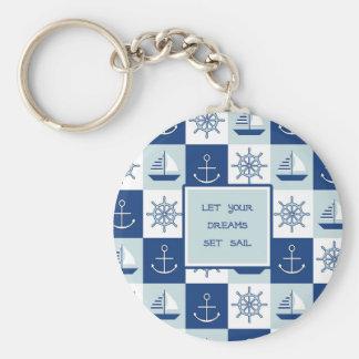 Let Your Dreams Set Sail Basic Round Button Keychain