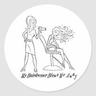 Let your favorite stylist know how you feel! classic round sticker