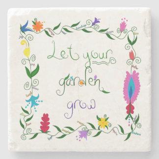 Let Your Garden Grow Colored Stone Coaster
