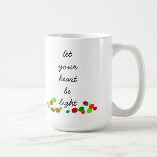 Let Your Heart Be Light Christmas Mug