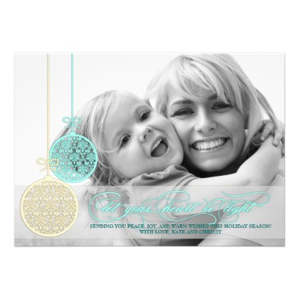 Let Your Heart Be Light Customizable Photo Card