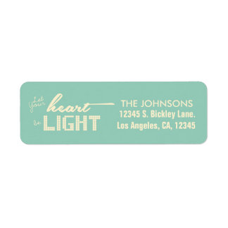 Let your heart be light - green and cream label